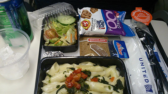 UNITED-In-flight meal